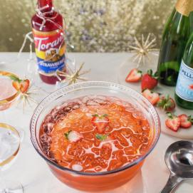 Strawberry Champagne Punch image