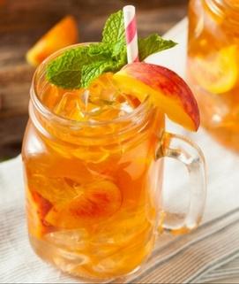 Almond Peach Iced Tea image