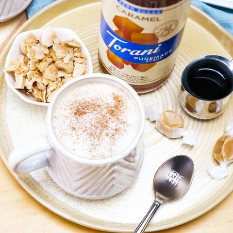 Keto-Friendly Salted Pumpkin Brittle Latte