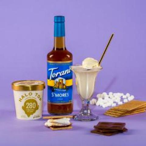 Skinny S'Mores Float