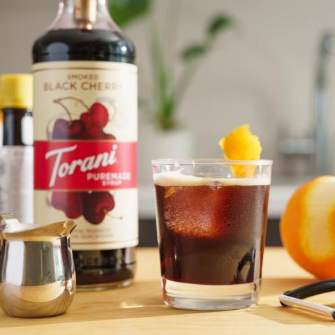 Smoked Black Cherry Cold Fashioned