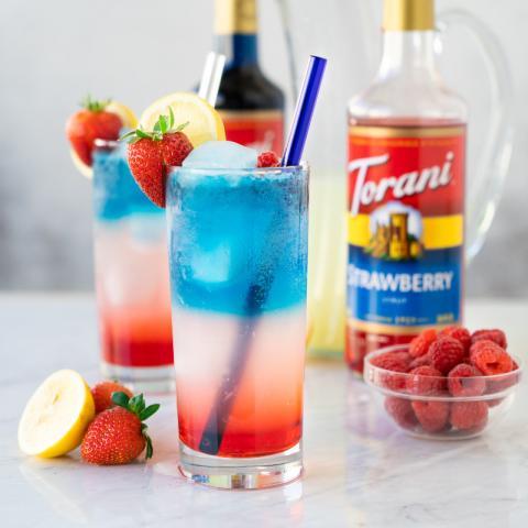 Patriotic Sparkling Lemonade