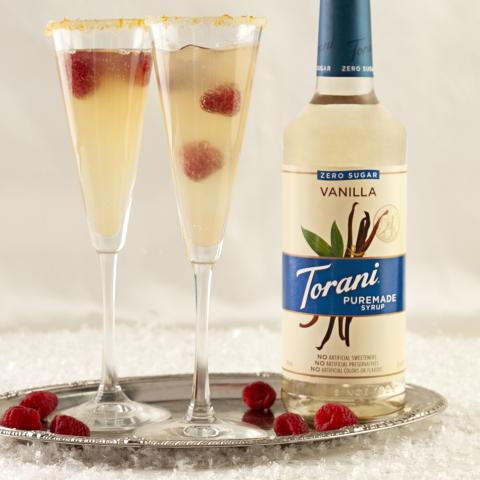 Raspberry Champagne Bellini