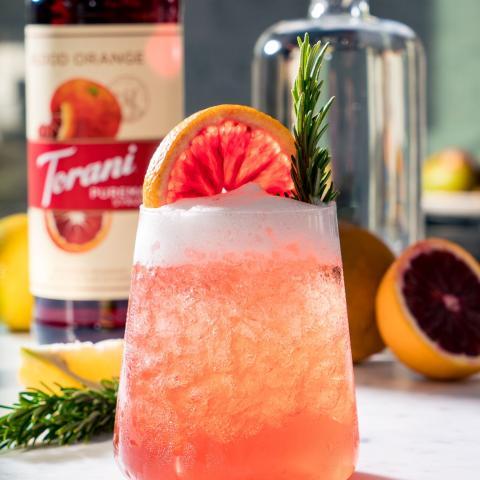 Blood Orange Gin Fizz