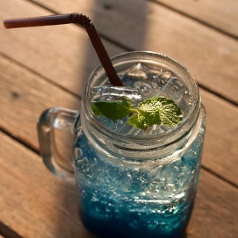 Blue Raspberry Cotton Candy Soda