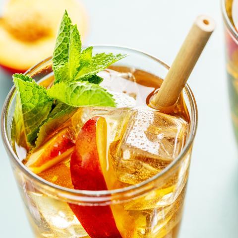 Shaken Peach Iced Tea