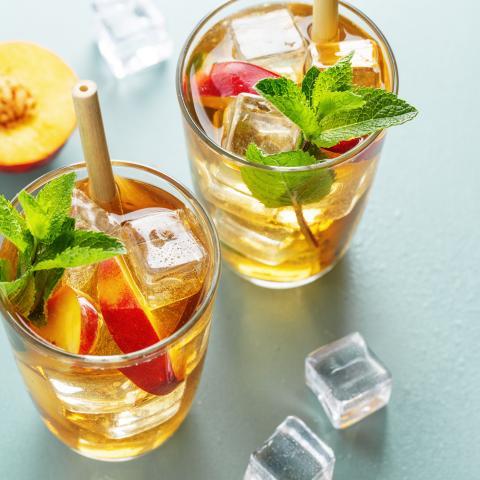 Blackberry Peach Bubble Tea