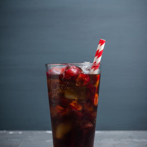 Smoked Black Cherry Chocolate Soda