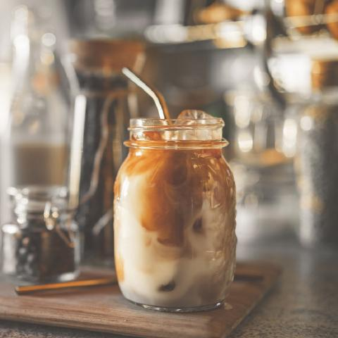 Iced Bittersweet Chocolate Latte