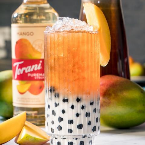 Mango Bubble Milk Tea
