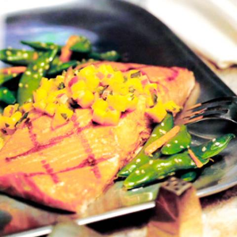 Grilled Salmon with Pineapple Marinade