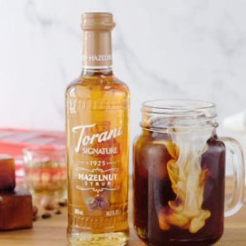 Torani Signature Hazelnut Flavored Coffee Ice Cubes