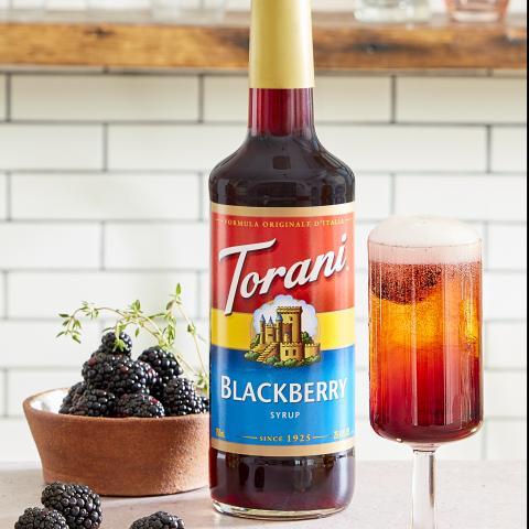 Blackberry Sparkling Thyme Cocktail