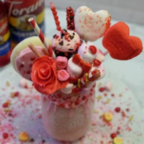 Extreme Strawberry Cookie Milkshake
