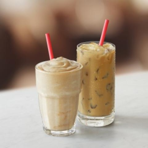Iced Bourbon Caramel Latte