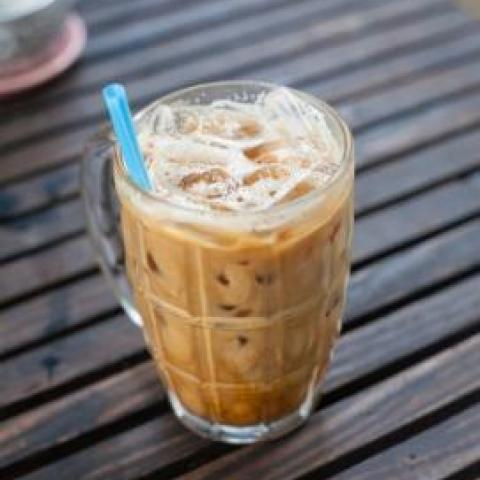Bourbon Crunch Iced Latte