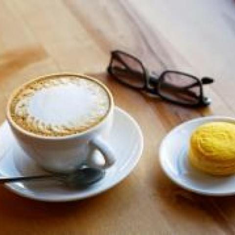 Parisian Pistachio Macaron Latte