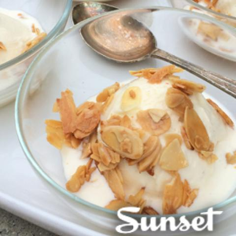 Salted Caramel Sundae with Candied Almonds