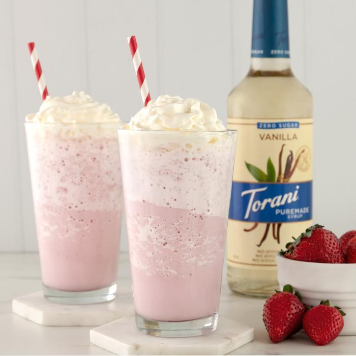 Keto Vanilla Strawberry Cheesecake Shake