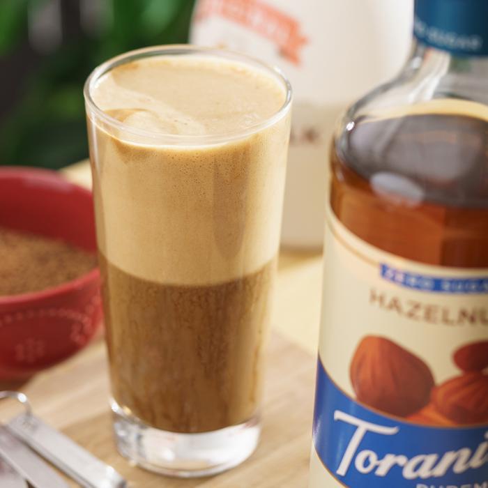 Keto Hazelnut Dalgona Coffee
