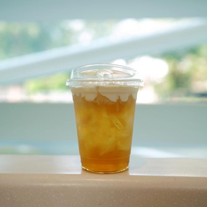 Ube Milk Tea with Coconut Cold Foam