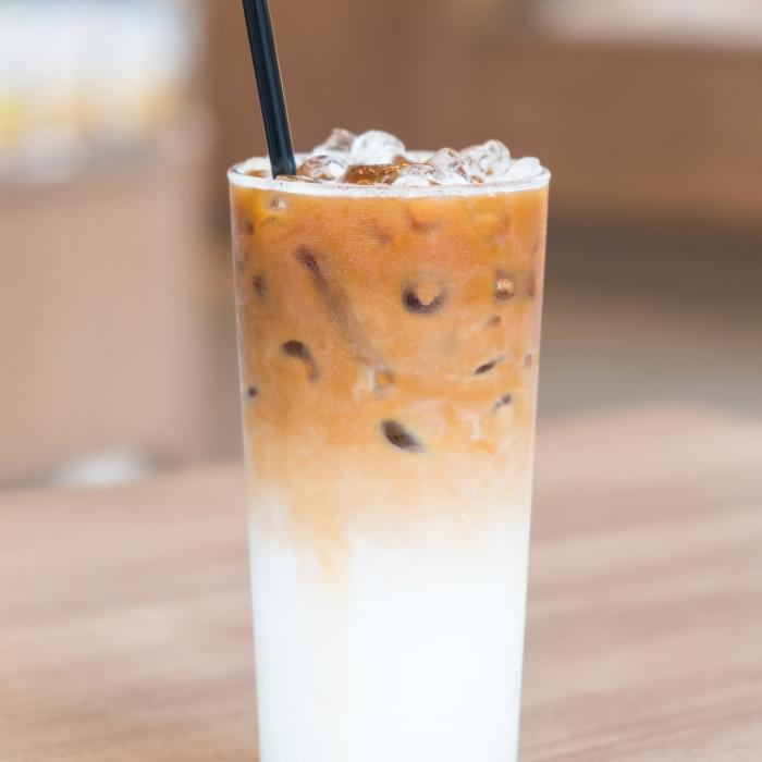 Iced Sugar Free English Toffee Latte