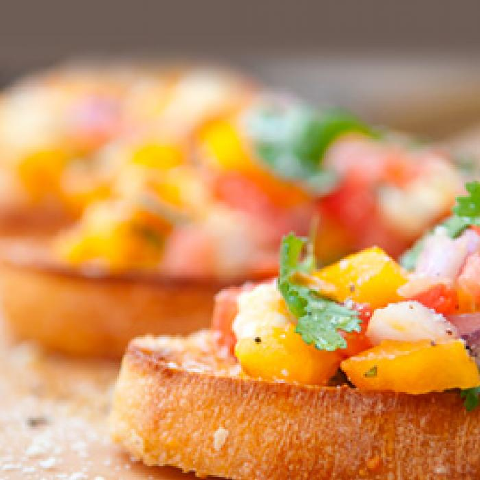 Peach and Tomato Salsa