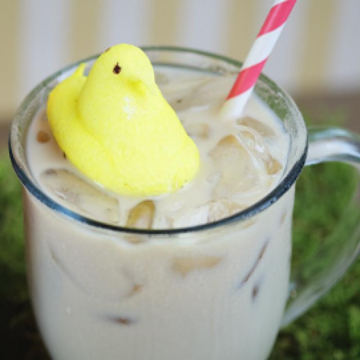 Iced Torani Shmallow Latte