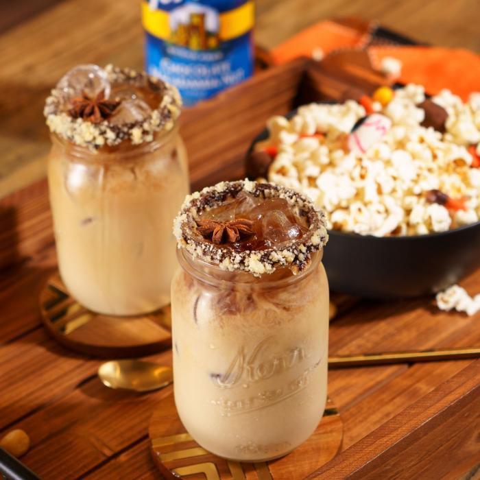 Sugar Free Chocolate Macadamia Nut Aloha Iced Latte