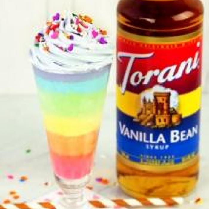 Rainbow Vanilla Milkshake